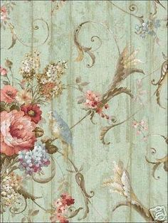 Bird-Rose-French-Cottage-Floral-Victorian-Wallpaper