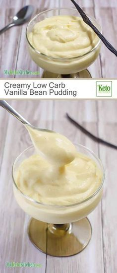 Creamy Low Carb Vanilla Bean Pudding (Gluten Free, Keto, Sugar Free)