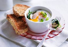 Sesame and shallot egg pots - Real Recipes from Mums
