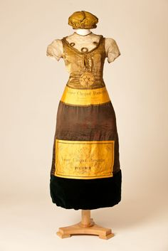 Champagne bottle dress worn by an unknown lady at a fancy dress party in 1902  / Courtesy Fashion Museum, Bath & North East Somerset Council, Bath, UK