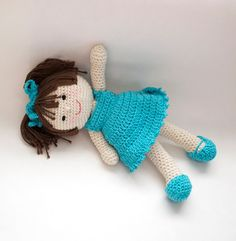 Crochet Doll Pattern Amigurumi PDF instant download Marcy