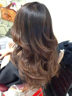 Brown balayage highlights