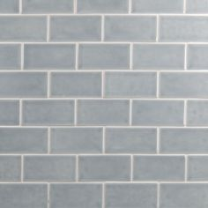 Give a sophisticated look to your living space by choosing this Ivy Hill Tile Oracle Arctic Blue Polished Ceramic Subway Wall Tile. Grey Subway Tiles, Ceramic Subway Tile, Grey Tiles, Glass Ceramic, Off White Kitchens, Kitchen White, Splashback Tiles, Beach House Kitchens, Light Grey Walls
