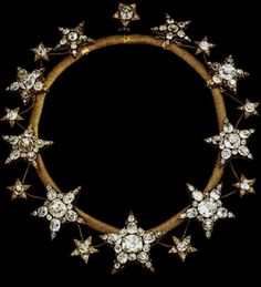 Queen Amelia of Portugal diamond star necklace