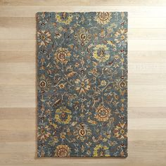 Layne Traditional Blue 5x8 Wool Rug