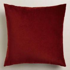 Classic Red Velvet Throw Pillow