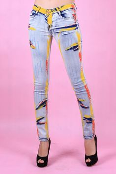 Painted Jeans Pants :