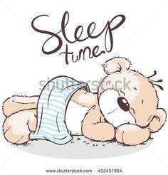 cute bear sleeping