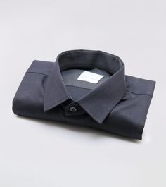 100% LINEN FULL SLEEVE BLACK SHIRT WITH DESIGNED UNDER COLLAR. www.covetlo.com