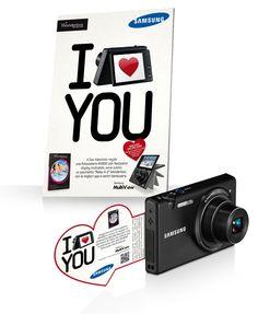 Samsung - I Love You - Samsung fa scattare l'amore / BTL communication material #Dandelio #dieciannidiidee