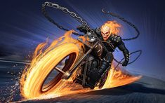 ghost rider marvel Ghost Rider by Patrick Brown Ghost Rider Bike, Ghost Rider Tattoo, Ghost Rider Marvel, Bike Rider, Ghost Rider Wallpaper, Marvel Wallpaper, Boat Wallpaper, Gost Rider, Spirit Of Vengeance