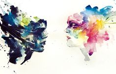 Check out the Watercolor paintings of Silvia Pelissero (a.a Agnes-Cecile) Her drippy watercolor paintings depict unknown faces focusing . Watercolor Portrait Painting, Portrait Paintings, Watercolor And Ink, Watercolor Artists, Abstract Paintings, Art And Illustration, Watercolor Illustration, Silvia Pelissero, Agnes Cecile