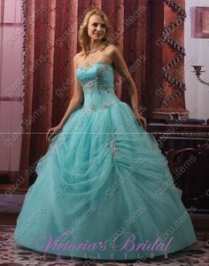 Perfect Blue Quinceanera Dress Ball Gowns Wedding Gown Formal Gowns Prom Dresses | eBay