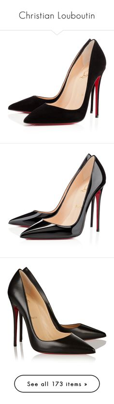 """Christian Louboutin"" by katiasitems ❤ liked on Polyvore featuring shoes, pumps, heels, christian louboutin, sapatos, black, black stiletto pumps, christian louboutin pumps, pointy-toe pumps and black pointed-toe pumps"
