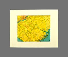 Matted Southern New Jersey Map of South Jersey Vicinity Area Map Ready to Frame Vintage Vineland Atlantic City Ocean City Philadelphia Map Wall Decor, Area Map, Photo Corners, Vintage Maps, Atlantic City, Ocean City, Storyboard, New Jersey, Philadelphia