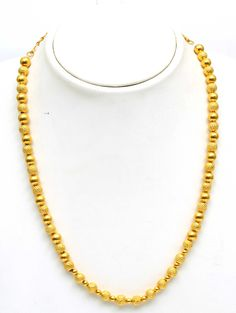 8 gram gold ball chain, 27K