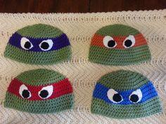Crochet Ninja Turtle Hat