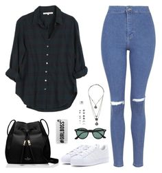 """""""Sin título #3637"""" by mdmsb on Polyvore featuring moda, Xirena, Topshop, adidas, Kate Spade, Ray-Ban, With Love From CA, Accessorize y Casetify"""