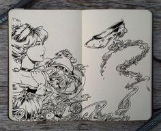 #136 Cinderella by Picolo-kun Disney Fantasy, Disney Art, Final Fantasy, Chiara Bautista, Gabriel Picolo, Notebook Drawing, Otto Schmidt, Mandala Drawing, Tomer Hanuka