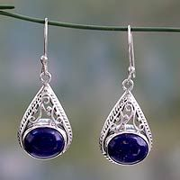 Lapis lazuli dangle earrings, 'Royal Grandeur' from @NOVICA, They help #artisans succeed worldwide.