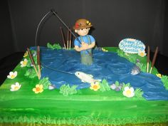 """Gone Fishing"" Cake"