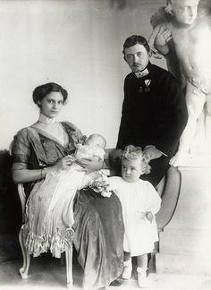 Emperor Karl, Empress Zita of Austria with their children archiduches Otto and Adelhaid of Austria