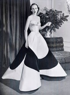 Now You Know: Charles James's Designs - Austine Hearst, 1953 from #InStyle
