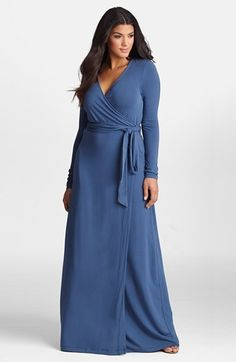 Jersey Wrap Maxi Dress (Plus Size)