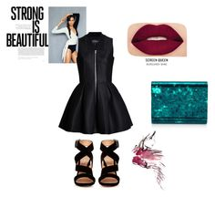"""""""moto tough chic"""" by kiley-lane15 on Polyvore featuring Gianvito Rossi and Smashbox"""