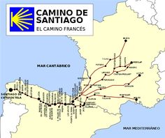 El Camino de Santiago / the Way of St James - pilgrimage from France to Spain. Description from pinterest.com. I searched for this on bing.com/images