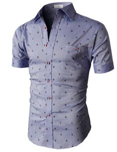 Doublju Casual Button-down Shirts Short Sleeve (KMTSTS020) #doublju