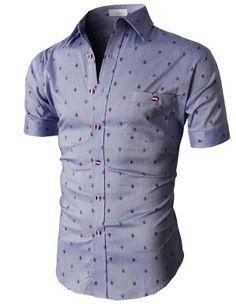 Doublju Casual Button-down Shirts Short Sleeve (KMTSTS020) #doublju