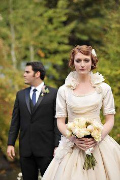 homemade victorian wedding dress