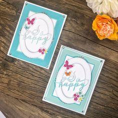 Bloomin' Cute Floral Baskets » Paper Suite Butterfly Stencil, Butterfly Cards, Origami Bow, Shaped Cards, Color Effect, Paper Pumpkin, Unique Colors, Hibiscus, Floral Arrangements