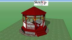 Gazebo plans Gazebo Plans, Outdoor Dining, Backyard, Outdoor Structures, Outdoor Furniture, How To Plan, Home Decor, Architecture, Al Fresco Dinner