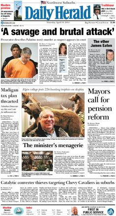 Daily Herald front page, April 10, 2014; http://eedition.dailyherald.com/