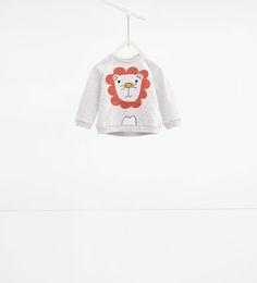 Afbeelding 1 van Sweatshirt met dieren van Zara