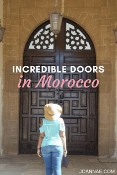 Incredible doors of Morocco  Try www.blacktraveljourney.com and https://www.instagram.com/blacktraveljourney for a lot more black travel enthusiasm! #blacktravel