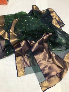 Buy Bottle Green Chanderi Katan Silk Saree Online in India Cotton Sarees Handloom, Kora Silk Sarees, Mysore Silk Saree, Wedding Saree Collection, Designer Sarees Collection, Designer Silk Sarees, Rajasthani Dress, Traditional Silk Saree, Saree Blouse Neck Designs