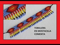 COMO HACER UNA TOBILLERA EN MOSTACILLA CHECA - YouTube Bead Embroidery Jewelry, Beaded Embroidery, Seed Bead Bracelets, Seed Beads, Loom Beading, Beading Patterns, Bead Jewellery, Jewelery, Peyote Stitch