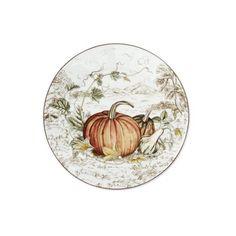 Williams Sonoma Plymouth Pumpkin Salad Plates Set Of 4 ($42) ❤ Liked On