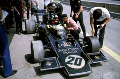 Colin Chapman, Emerson Fittipaldi and the beautiful Lotus 72