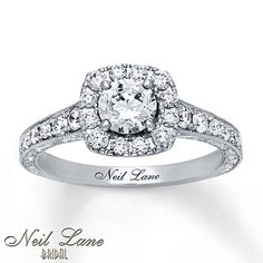 Neil Lane Engagement Ring 1 1/6 ct tw Diamonds 14K White Gold