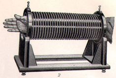 1906 Latest Physical Therapy Equipment (Machine for Light Treatment - Steel Engraving from a German Reference book 1906)
