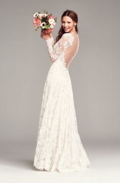 The most beautiful gown for a winter wedding! #nordstrom: