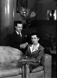 HRH Princess Fawzia of Egypt and Her Second Husband, Col. Ismail Cherine Bey ..