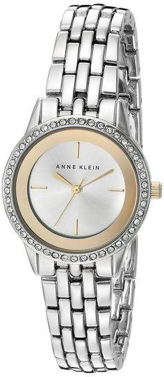 Anne Klein Women's AK/2295SVTT Swarovski Crystal Accented Silver-Tone Bracelet…