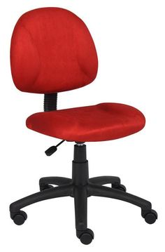 Boss Office Products B325-RD Boss Red Microfiber Deluxe Posture Chair