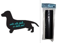 Doxy News. Wiener dog chalk board.  Super Cute puppy Items for your home.  The blog links you to the actual Dachshund item to buy.
