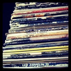 Records. I spy...led zeppelin:)